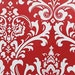 Red Floral Curtain Panels Damask Curtains Drapery Window Treatments Set Pair Red Drapes Home Decor