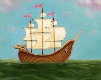 nautical art - Ladyship print on premium matte by Marisol Spoon