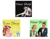 Retro Fifties Style Banner and Avatar Sets