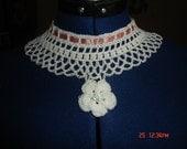 Irish crochet inspired Lace necklace