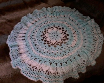 Lacy Flower Baby Afghan