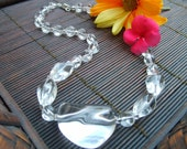 Chunky Clear Lucite Necklace