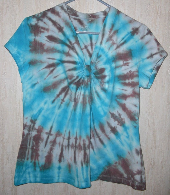 items similar to turquoise and chocolate brown swirl tie dye shirt on etsy. Black Bedroom Furniture Sets. Home Design Ideas