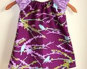 Purple Sparrows Peasant Dress