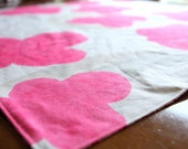 OOAK modern baby blanket - girl - linen nani iro fabric (out of print) - handmade by noah and lilahchristmasinjuly