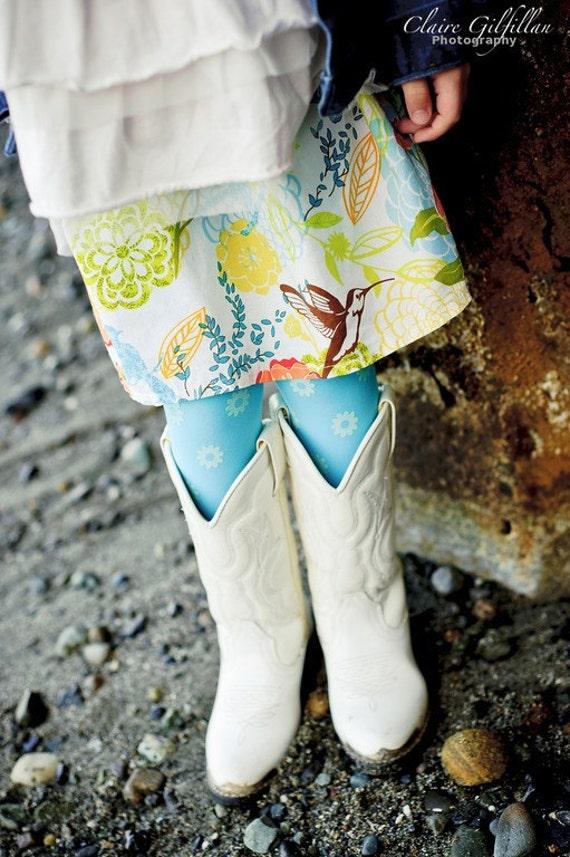 Hummingbird Garden Skirt - 6T ready to ship