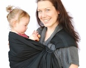 RESERVED - Baby carrier Ring Sling The original LBD (little black dress) Superwide Baby Basics - Made to Order Any Length