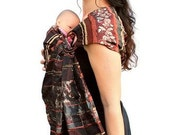 Heavy Metal Baby Ring Sling - Copper Silver and Gold Pleated - Made to Order - Standard or Petite only