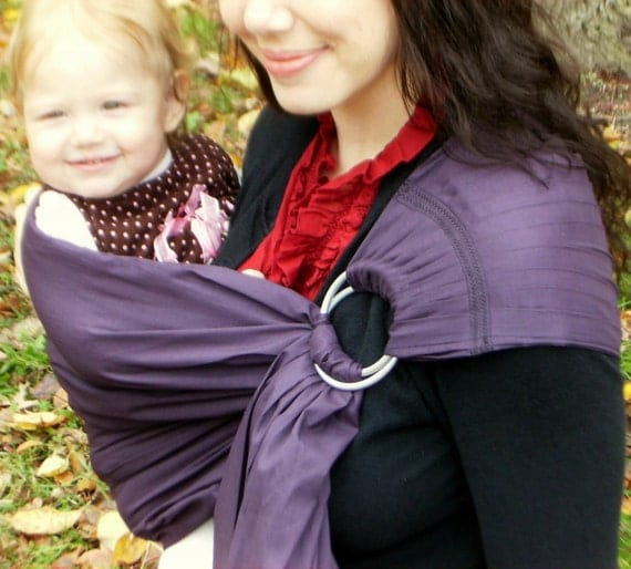 PreHoliday SALE Baby Basics Plum Purple and 6 colors Ring Sling US Shipping Included