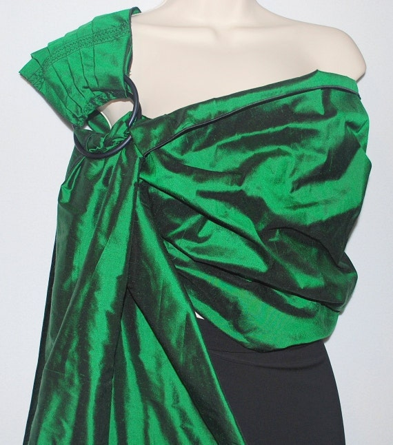Sale Today Only usually 55 dollars Emerald Isle Silk Pleated baby Ring Sling dark green - US Shipping Included LAST ONE