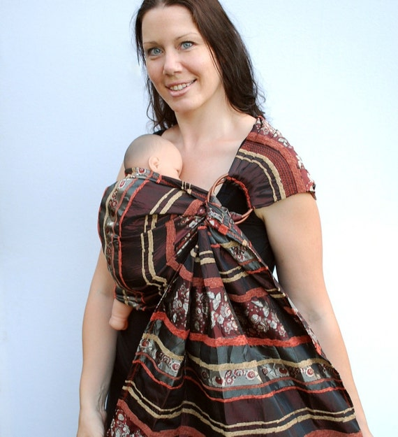 Heavy Metal baby Ring Sling Copper Silver and Gold Pleated