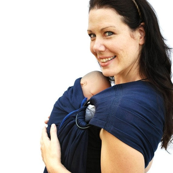 BabySoft Newborn stretch sling in Navy - See my shop for Many Colors/Styles