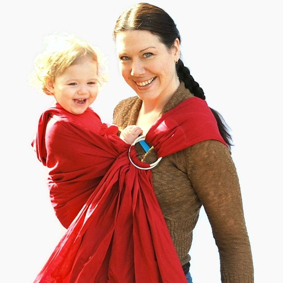 Cranberry Red Baby Basics QUILTED Ring Sling - Many Colors Available