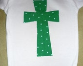 Green Polka Dot Cross Onesie