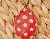 Pretty Polka Dot Chandelier Crystal Pendant Necklace
