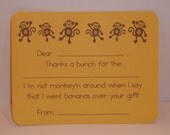 Monkey Thank You Notes - Great for Children of All Ages