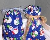 Reusable Cloth Holiday Gift Bags