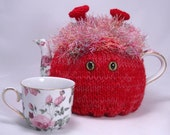 Made to Order - CozyKin tea cosy - A cute and friendly sweater for your teapot - You choose color and eyes