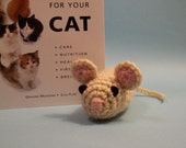 Cream Mouse Cat Nip Toy
