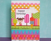 card: happy birthday - time to celebrate