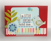 card: a little birdie told me (blank inside)