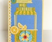 when life gives you lemons make lemonade - blank card