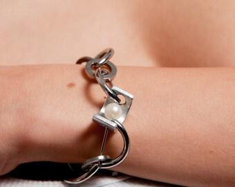 Tropea Bracelet Stainless Steel, Titanium, Aluminum, Pearl