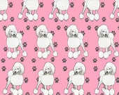 Pink Poodle fabric