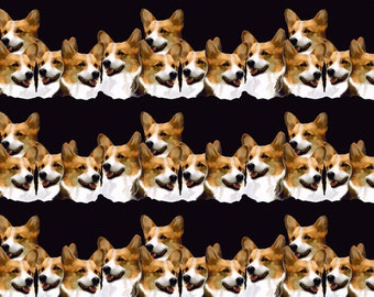 Welsh Corgi Fabric