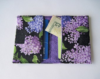 Gift Card/Travel Wallet For Credit Card, Bills, and Room Key Fits in Back Pocket purple wallet girls wallet girls gift card holder
