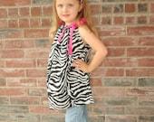 Zebra Bandana Dress/Shirt... So cute...... Perfect for your little diva......... Sizes newborn -10x