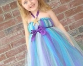 Little Mermaid Inspired Tutu Dress. 3 piece Set. Wonderful Birthday and Picture Outfit.
