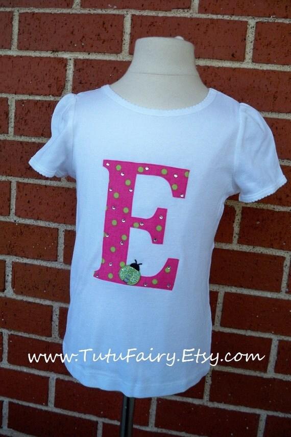 Ladybug Birthday Shirt.... Personalized Initial or Age..... Newborn-10x