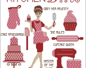 Kitchen Diva Cross Stitch PDF Chart