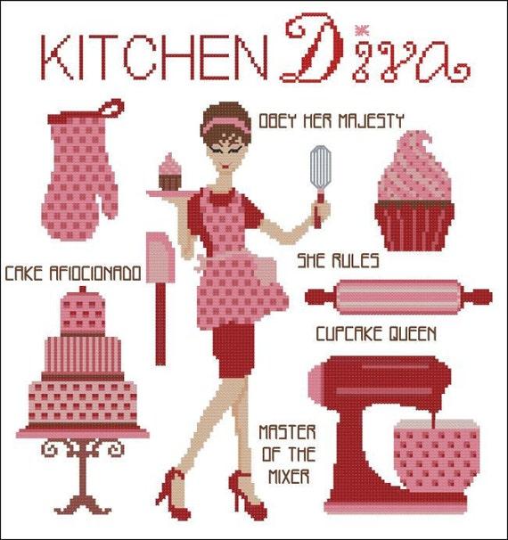 Kitchen Diva Cross Stitch PDF Chart
