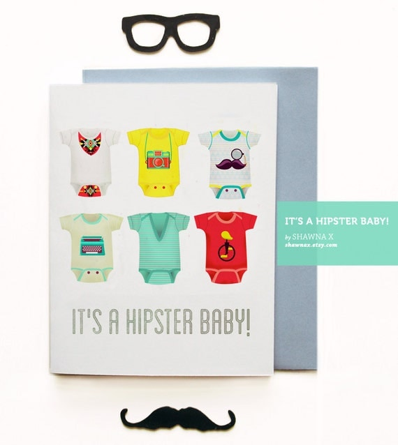 It's a Hipster Baby card
