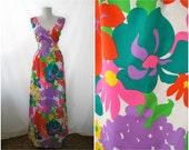 SALE -  Vintage 1970s Malia of Honolulu Dress