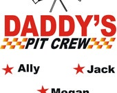Racing PIT CREW Shirt Fully Customizable Title and Names