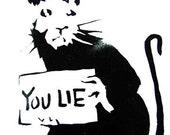 YOU LIE RAT - Banksy U. K. Street Graffiti Artist T-shirt