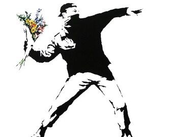 Flower Thrower - Banksy U.K. Street Graffiti Artist T-shirt