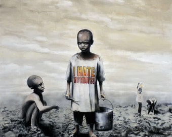 I HATE MONDAYS - Banksy U.K. Street Graffiti Artist T-shirt