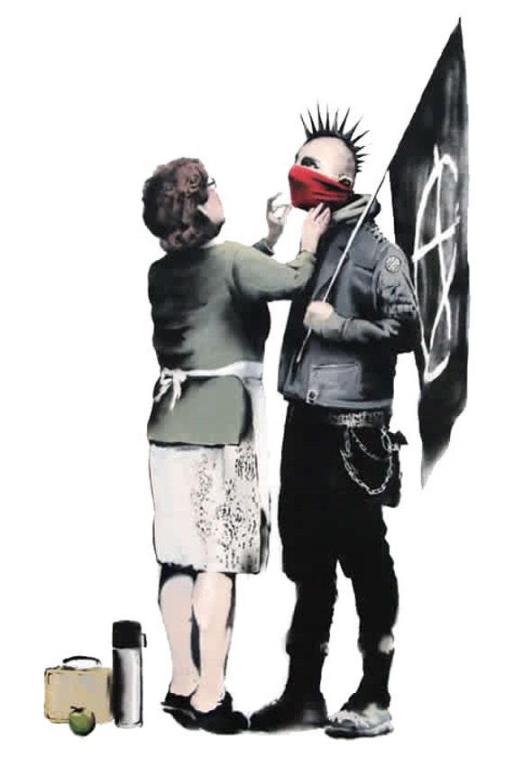 PUNK MUM - Banksy U.K. Street Graffiti Artist T-shirt