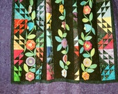 """SALE, 25% off, coupon code """"sellingallquilts, Midnight Garden Quilt"""