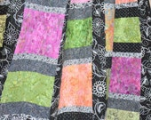 """SALE, 25% off, coupon code """"sellingallquilts"""" CITRUS lap quilt wall hanging 61x70"""