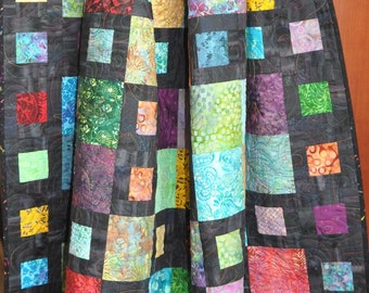 Coupon code, springquiltsale, 15% off, Quilt, Stash Box Quilt, Wall Quilt, Lap Quilt,  69 X 69