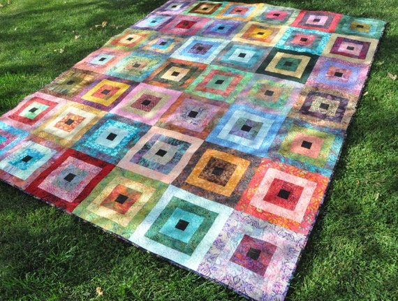 Quilt Cassies Rainbow  81 X 94  FREE SHIPPING in US