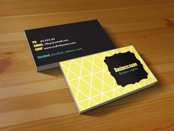 yellow love double sided business card design