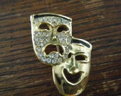 Vintage Comedy/Tragedy Mask Brooch