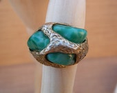 Vintage Ring Green Faux Stone Ring Mrs. Beast