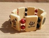 Vintage Bracelet Mahjong Tiles Bone